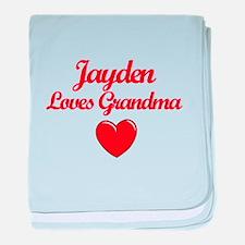 Jayden Loves Grandma baby blanket