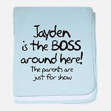 Jayden is the Boss baby blanket