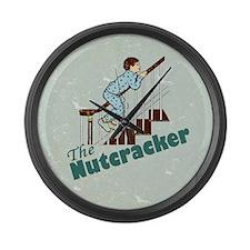 Nutcracker Christmas Large Wall Clock