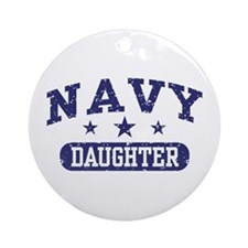 Navy Daughter Ornament (Round)
