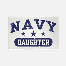 Navy Daughter Rectangle Magnet