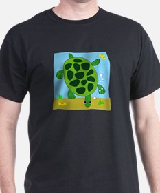 No Such Thing as a Bad Turtle! Black T-Shirt