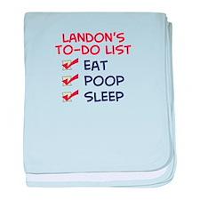 Landon's To-Do List baby blanket