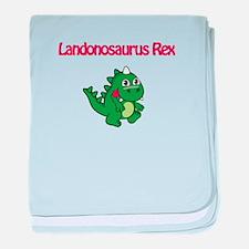 Landonosaurus Rex baby blanket