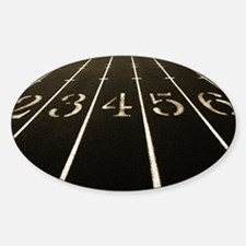 Race Track Numbers In Sepia Tone Decal