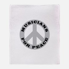 Musicians Peace Throw Blanket