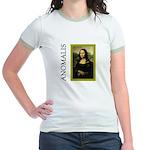 Mona Lisa Anagram Jr. Ringer T-Shirt