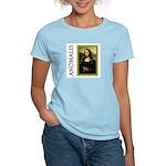 Mona Lisa Anagram Women's Pink T-Shirt