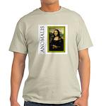 Mona Lisa Anagram Ash Grey T-Shirt