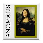 Mona Lisa Anagram Tile Coaster