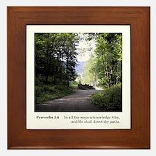 Thy Paths Framed Tile