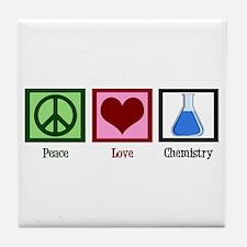 Peace Love Chemistry Tile Coaster