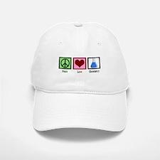 Peace Love Chemistry Baseball Baseball Cap