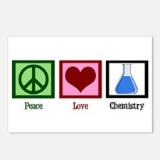 Peace Love Chemistry Postcards (Package of 8)