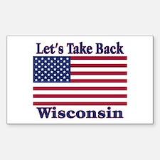Take Back Wisconsin Sticker (Rectangle)