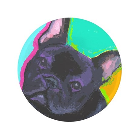 "Fun Frenchie 3.5"" Button"