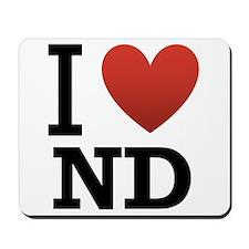 I Love North Dakota Mousepad