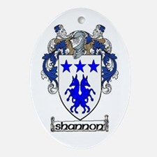 Shannon Coat of Arms Oval Ornament