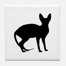 Sphinx cat Tile Coaster