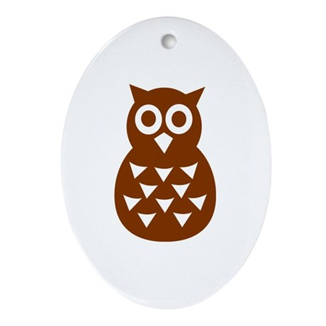 Owl Ornament (Oval)