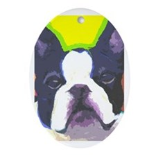 Frenchie Fun Ornament (Oval)