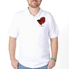 Red Betta Splendens -Siamese  T-Shirt