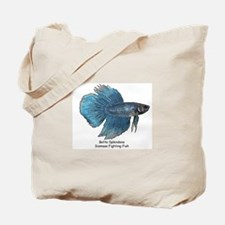 Blue Betta Splendens -Siamese Tote Bag