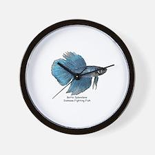 Blue Betta Splendens -Siamese Wall Clock