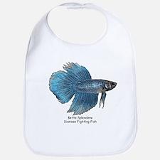 Blue Betta Splendens -Siamese Bib