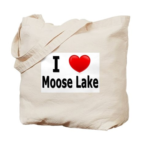 I Love Moose Lake Tote Bag
