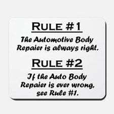 Auto Body Repairer Mousepad