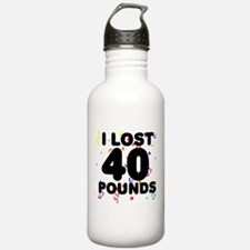 I Lost 40 Pounds! Water Bottle