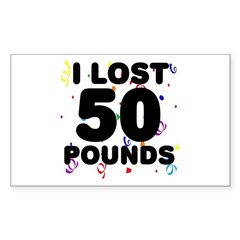 I Lost 50 Pounds! Decal