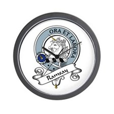 Ramsay Clan Badge Wall Clock