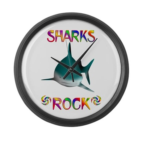 Shark Large Wall Clock