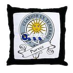 Purves Clan Badge Throw Pillow