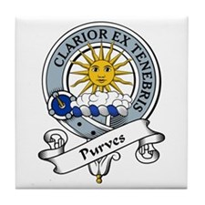 Purves Clan Badge Tile Coaster