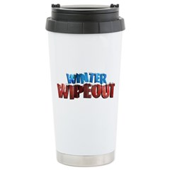 Winter Wipeout Stainless Steel Travel Mug