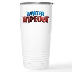 Winter Wipeout Stainless Steel Travel Mug