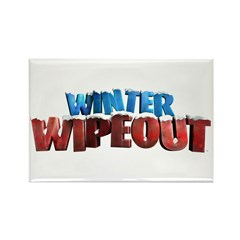Winter Wipeout Rectangle Magnet