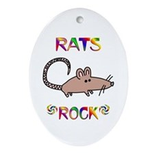 Rat Ornament (Oval)