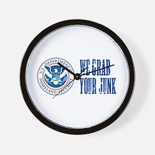 We Grab Your Junk TSA Wall Clock