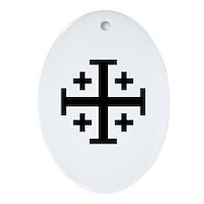 Jerusalem cross Ornament (Oval)