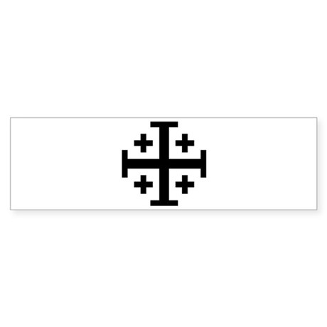 Jerusalem cross Sticker (Bumper)