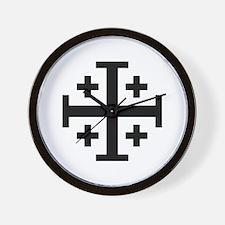 Jerusalem cross Wall Clock