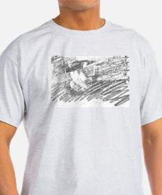 Guitar Sketch Ash Grey T-Shirt