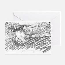 Guitar Sketch Greeting Cards (Pk of 10)