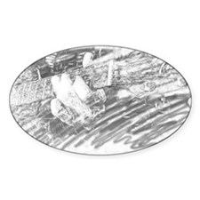 Guitar Sketch Oval Decal