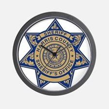 Harris County Sheriff Wall Clock
