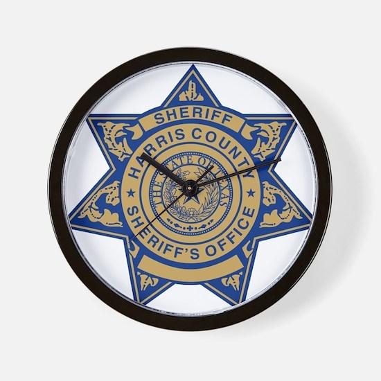 Harris County Sheriff Wall Clock